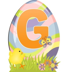 Cute initial letter G vector image vector image