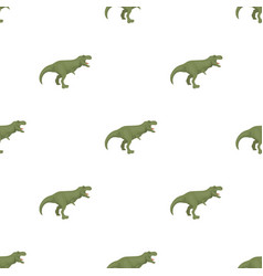 dinosaur tyrannosaurus icon in cartoon style vector image vector image