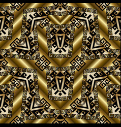 ethnic gold 3d seamless pattern vector image vector image