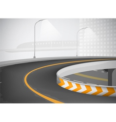 Expressway and townscape background vector