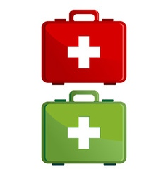 First aid kit case vector image vector image