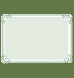 Green background and frame vector