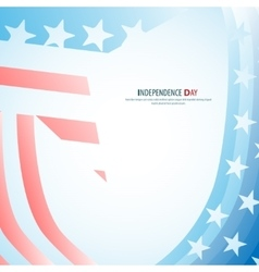 independence day star poster - retro vector image