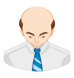 Man lossing hair diagram vector image