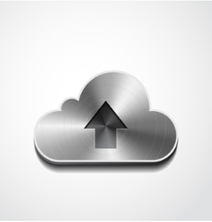 Metal button cloud isolated vector