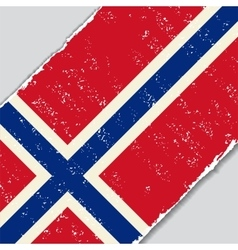 Norwegian grunge flag vector