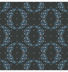 Paisley round circles floral pattern vector