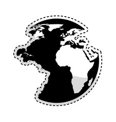 Planet earth isolated icon vector