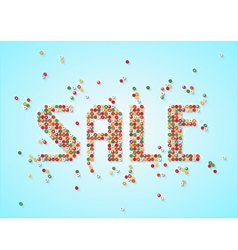 Sale scattered beads tag vector