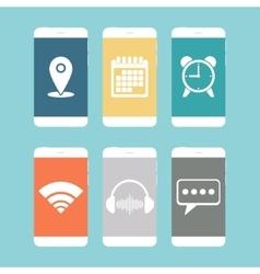 Smartphones flat icon vector image vector image