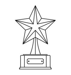 star award icon thin line vector image