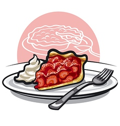strawberry pie vector image vector image