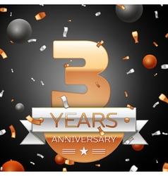 Three years anniversary celebration background vector