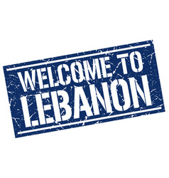 welcome to lebanon stamp vector image
