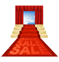 Sale red carpet vector
