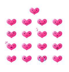 emoticons heart gradient 2 vector image