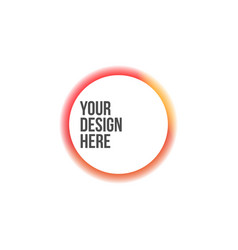 Circle colorful banner with fade effect vector