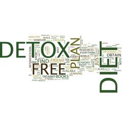Free detox diet text background word cloud concept vector