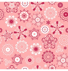 Flake pattern rose vector