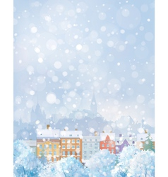 Winter city vector