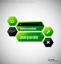 Hexagon design vector