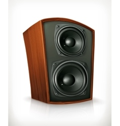 Audio speaker in plane wooden body vector