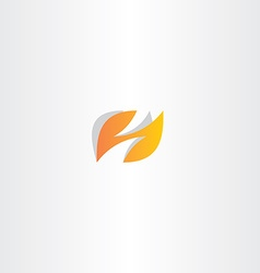Letter h logo h orange logotype vector