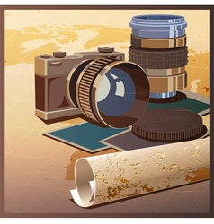 Photos and travels vector