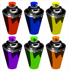 Spray for graffiti vector
