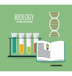Biology design lab icon flat vector
