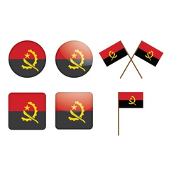 badges with flag of Angola vector image vector image