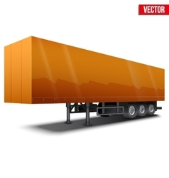 Blank orange parked semi trailer vector image