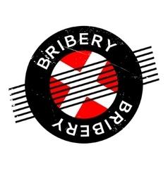 Bribery rubber stamp vector