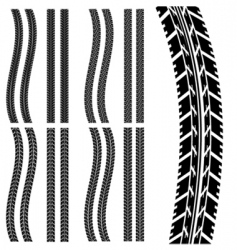 car tyre vector image