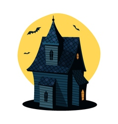 Cartoon haunted house vector