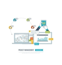 Concept of project management investment finance vector