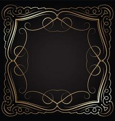 decorative border 0601 vector image vector image