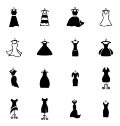 Dress on a hanger vector