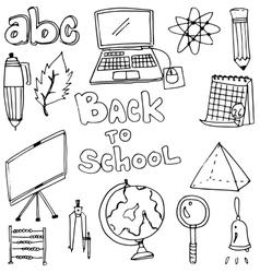 element education doodles vector image vector image