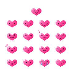 Emoticons heart gradient 2 vector