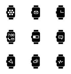Flat smart watch icon vector