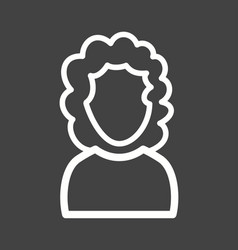 girl with curly hair vector image vector image