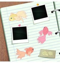 Goldfish Scrapbook vector image