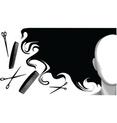 hair style beauty background vector image vector image