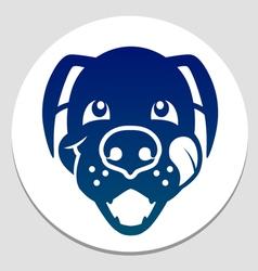 Happy fed dog symbol vector