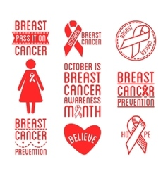 International Day of Breast Cancer Awareness Set vector image vector image