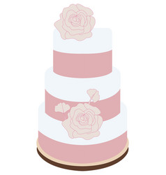 Isolated wedding cake vector