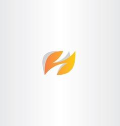 Letter h logo h orange logotype vector