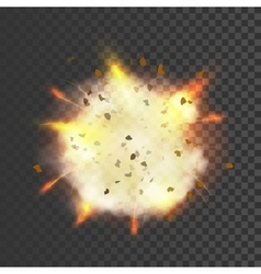 New realistic explosion symbol vector
