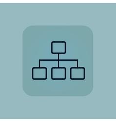 Pale blue scheme icon vector